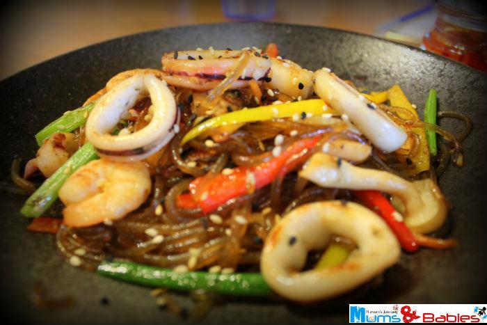 Korean Stir-fried Seafood Glass Noodle