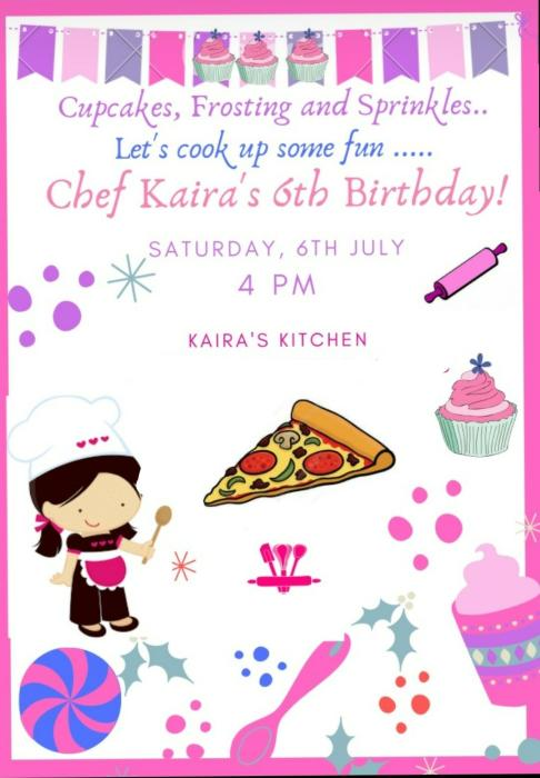 Chef Kaira Birthday
